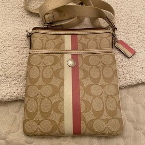 AUTHENTIC COACH Pink Signiture Crossbody Bag